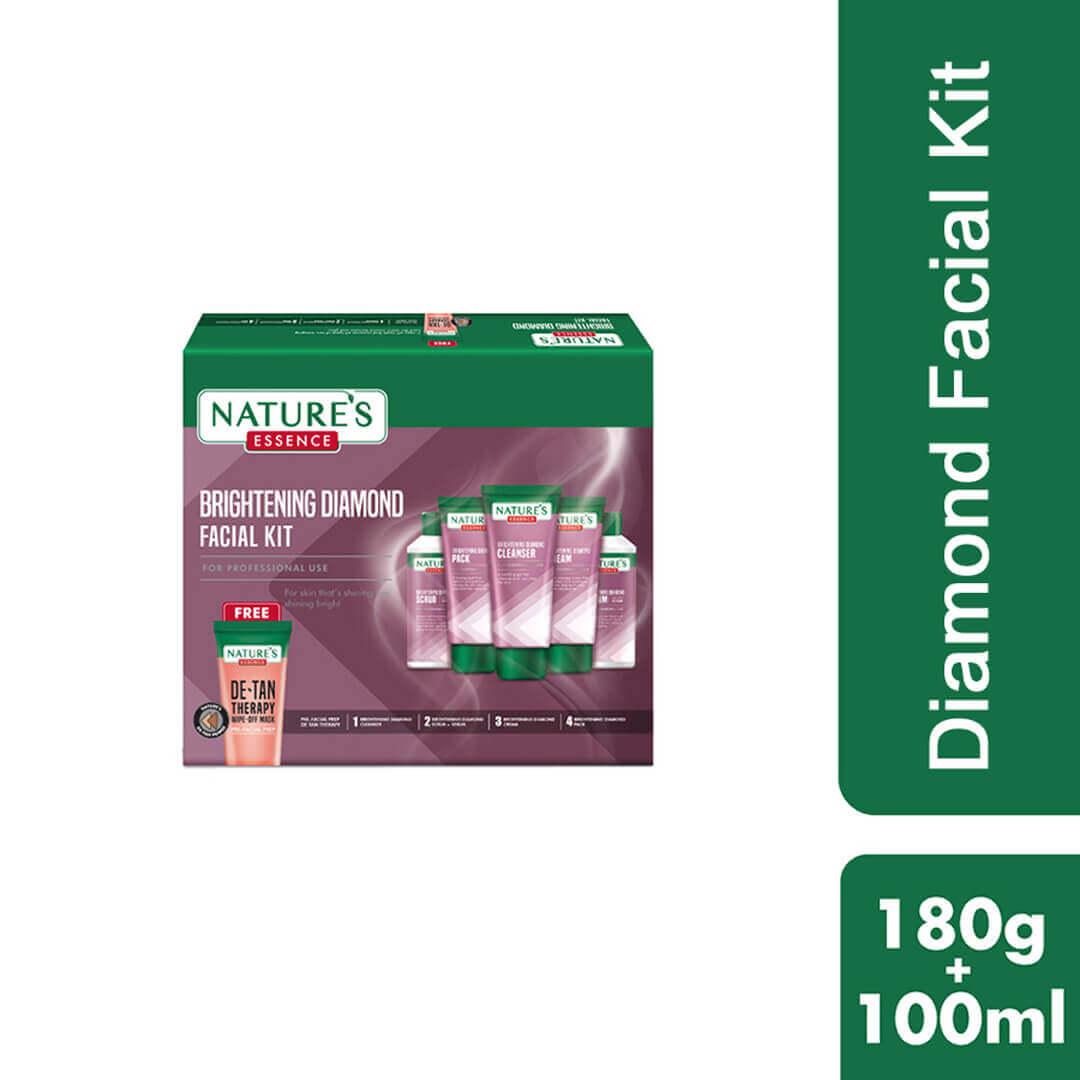 Brightening Diamond Facial Kit, 180gm + 100ml