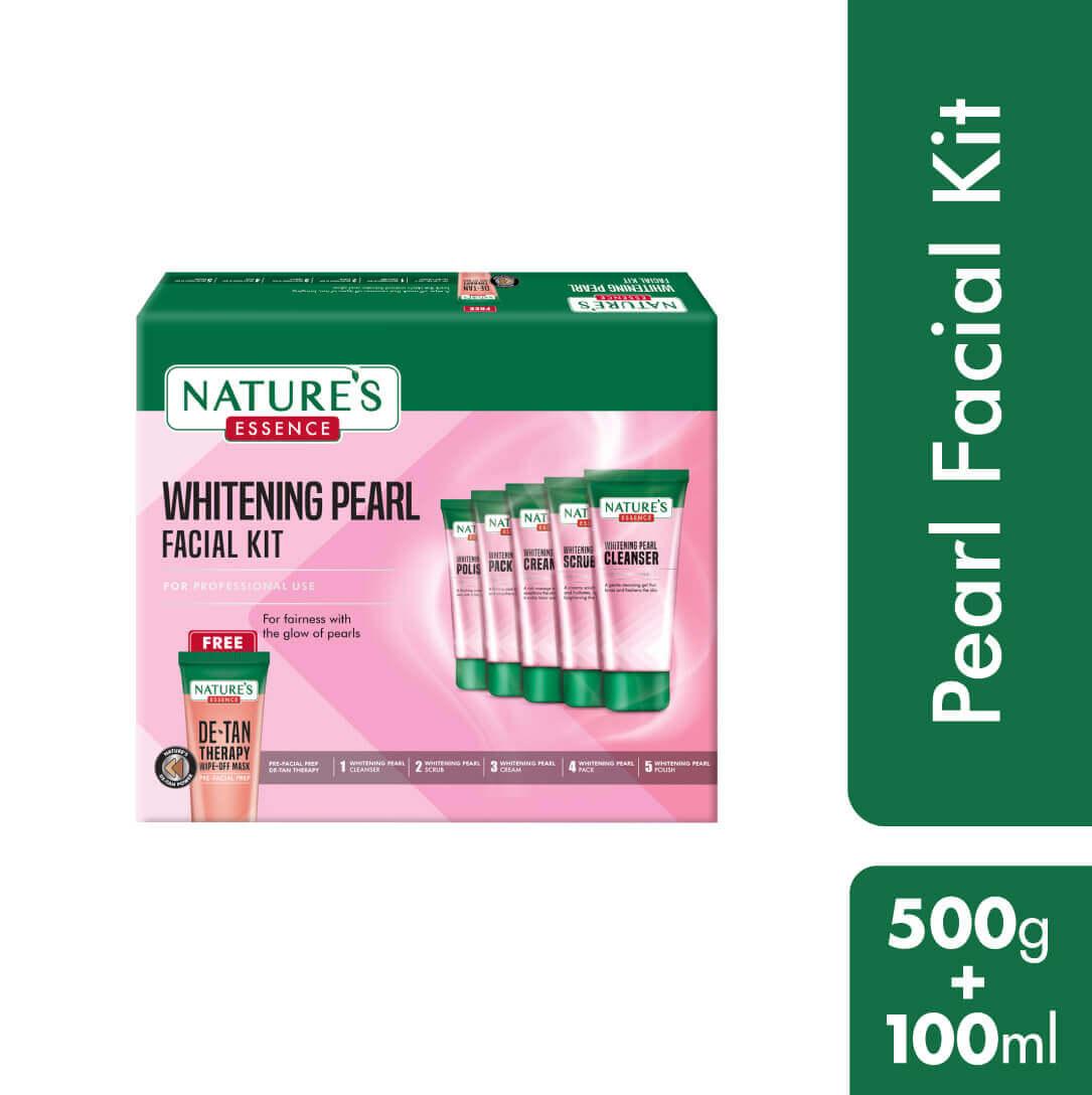 Whitening Pearl Facial Kit, 500gm+100ml