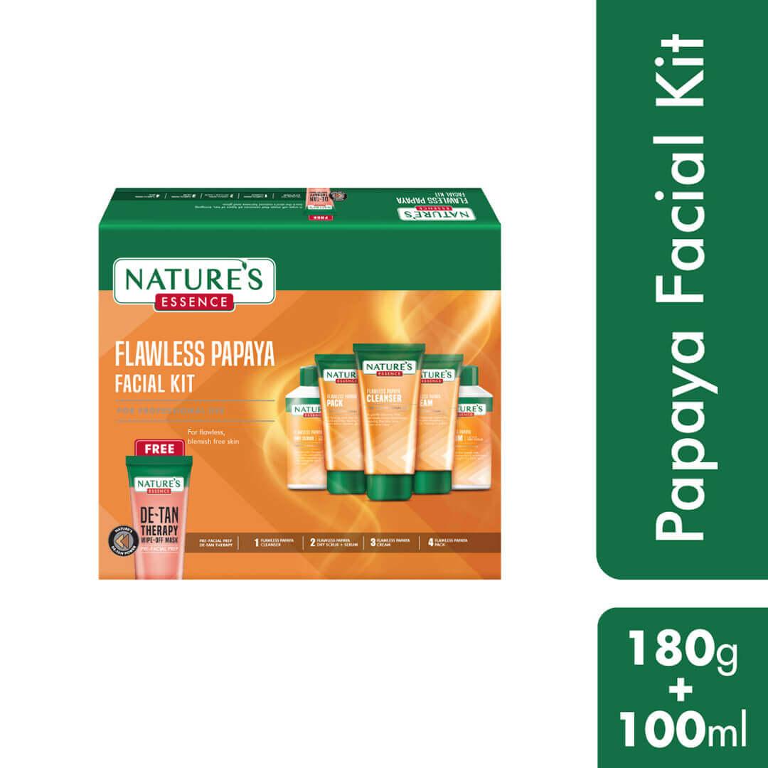 Flawless Papaya Facial Kit, 180gm + 100ml