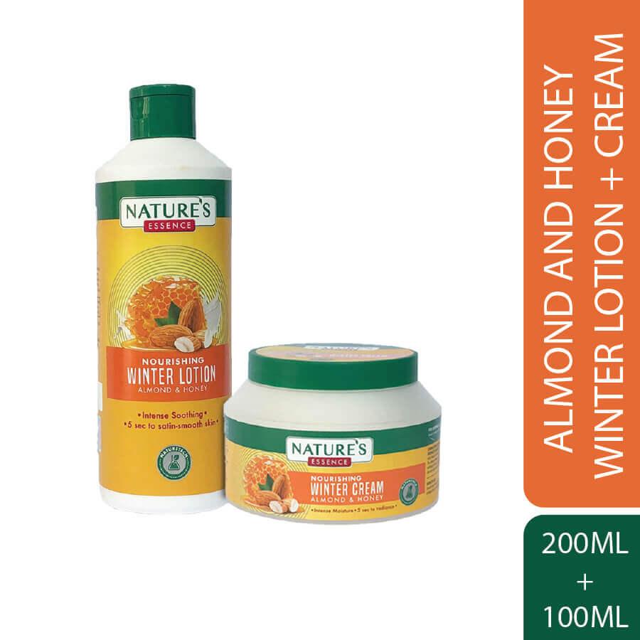 Nourishing Winter Cream 100 ml & Lotion 200 ml Almond & Honey Pack of 2